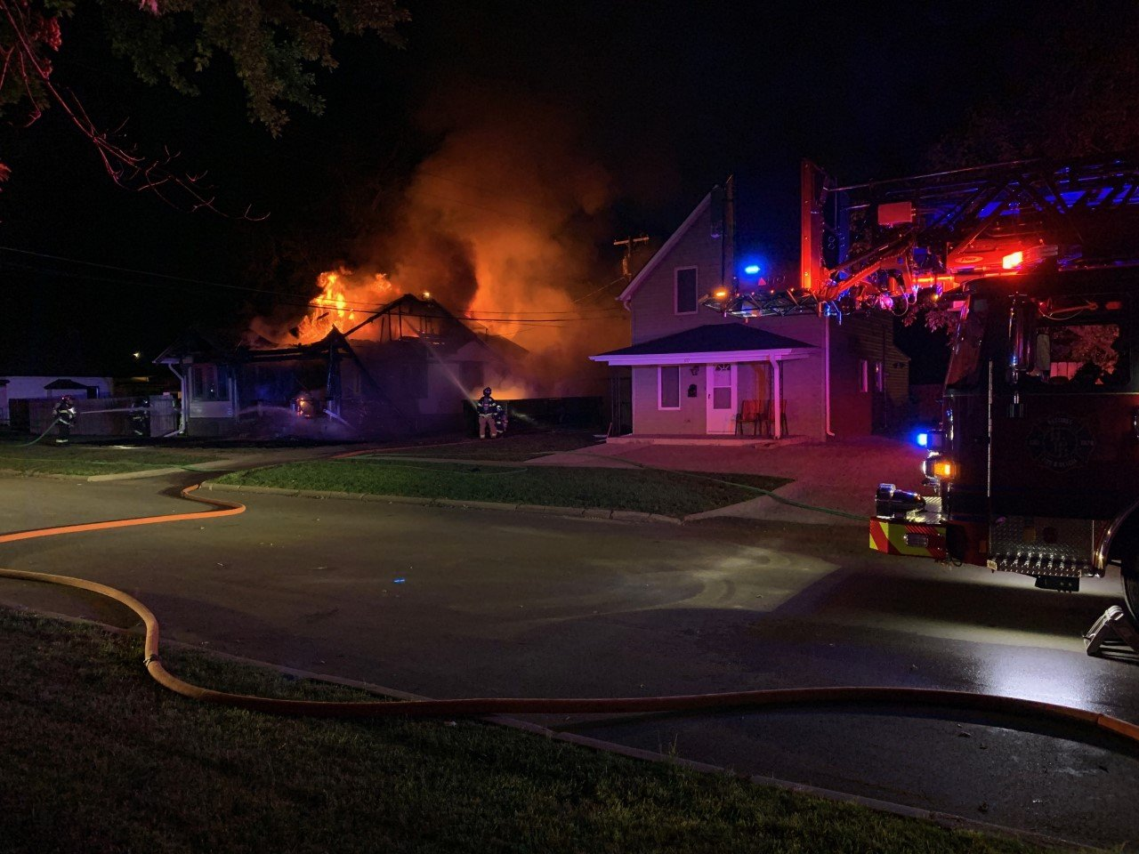 Structure fire in Hastings resulted in severe damage, no injuries