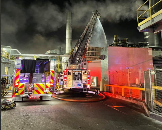 Roof fire at JBS beef plant in Grand Island