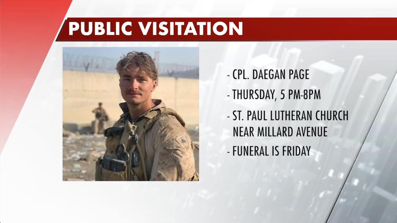 Public visitation announced for Cpl. Daegan Page