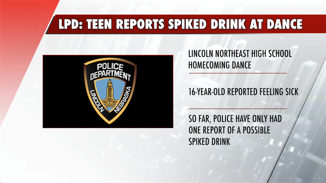 Teen reported spiked drink after homecoming dance