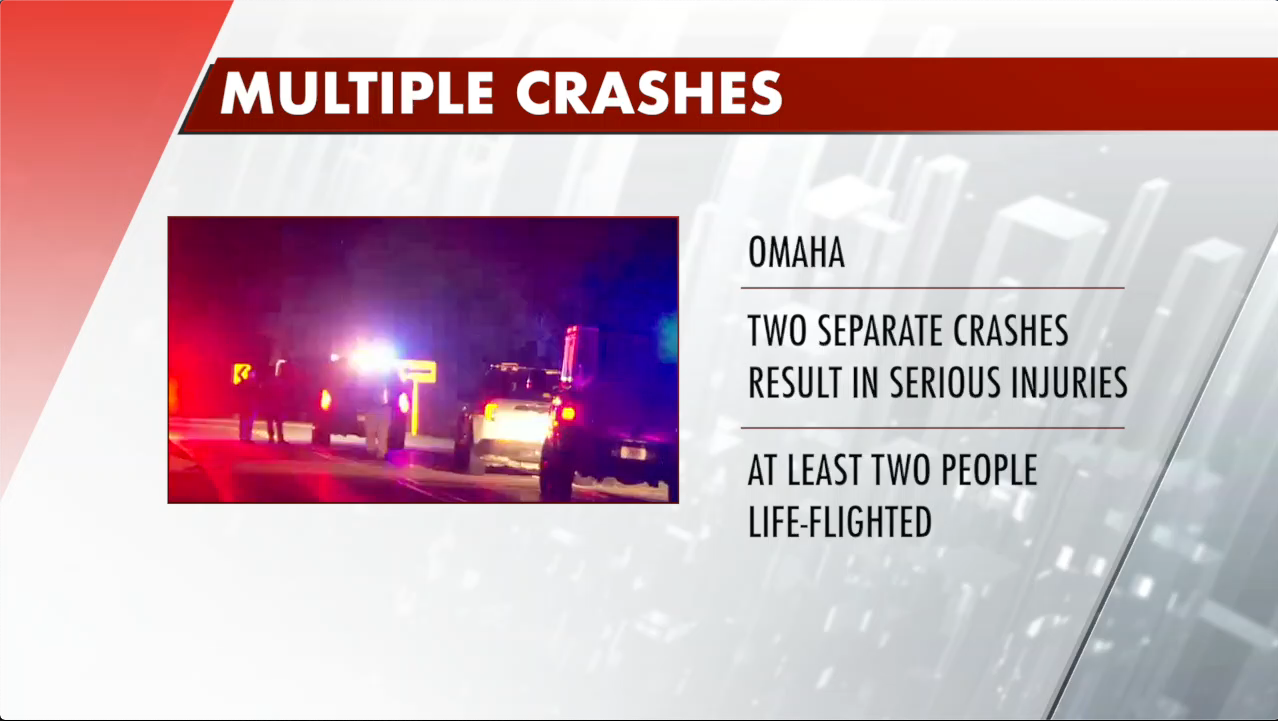 Two weekend crashes lead to life-threatening injuries in Omaha