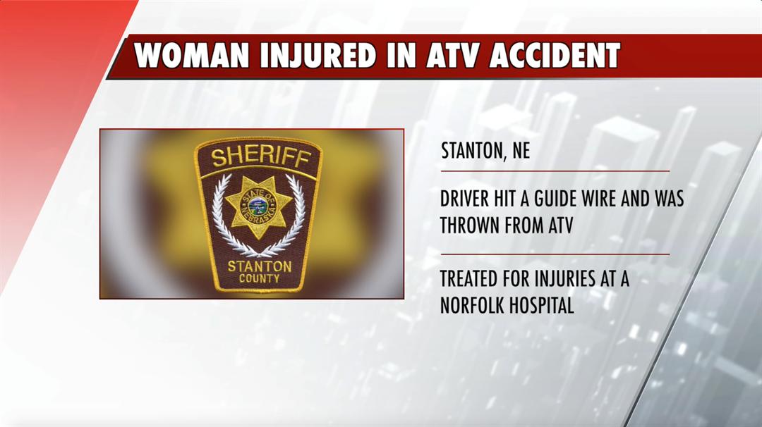 Norfolk woman injured in ATV accident in Stanton