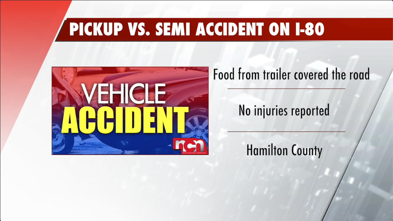 Accidents led to groceries on the road but no injuries