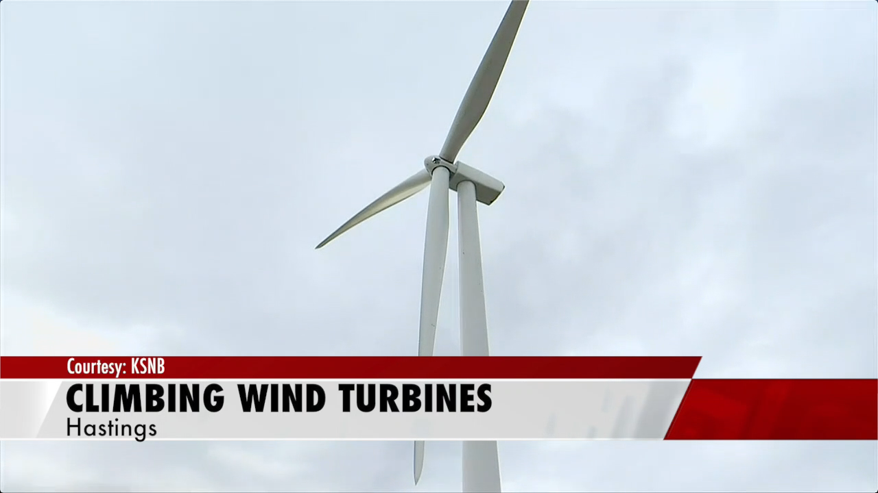 CCC students get hands-on experience climbing wind turbines