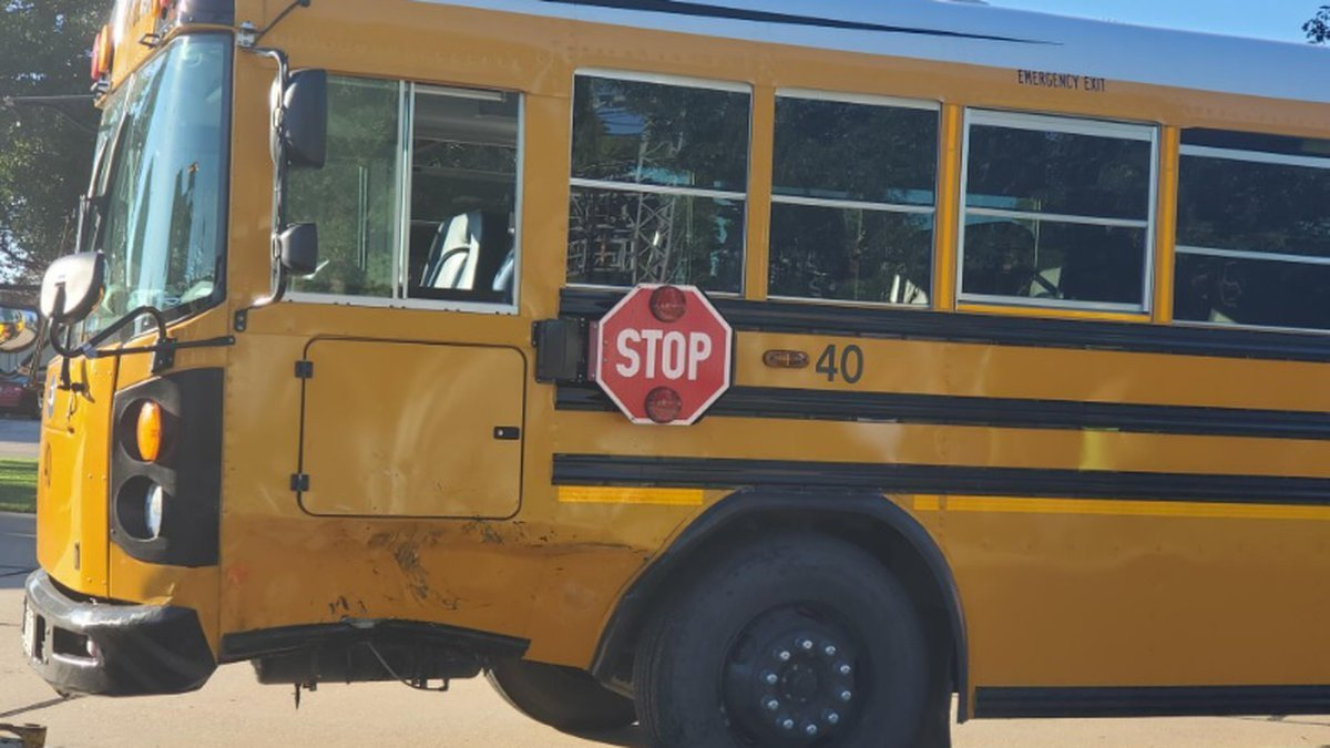SUV collides with school bus in Hastings
