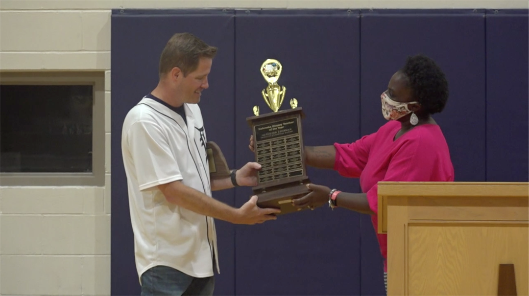 Lincoln teacher announced as History Teacher of the Year at school assembly