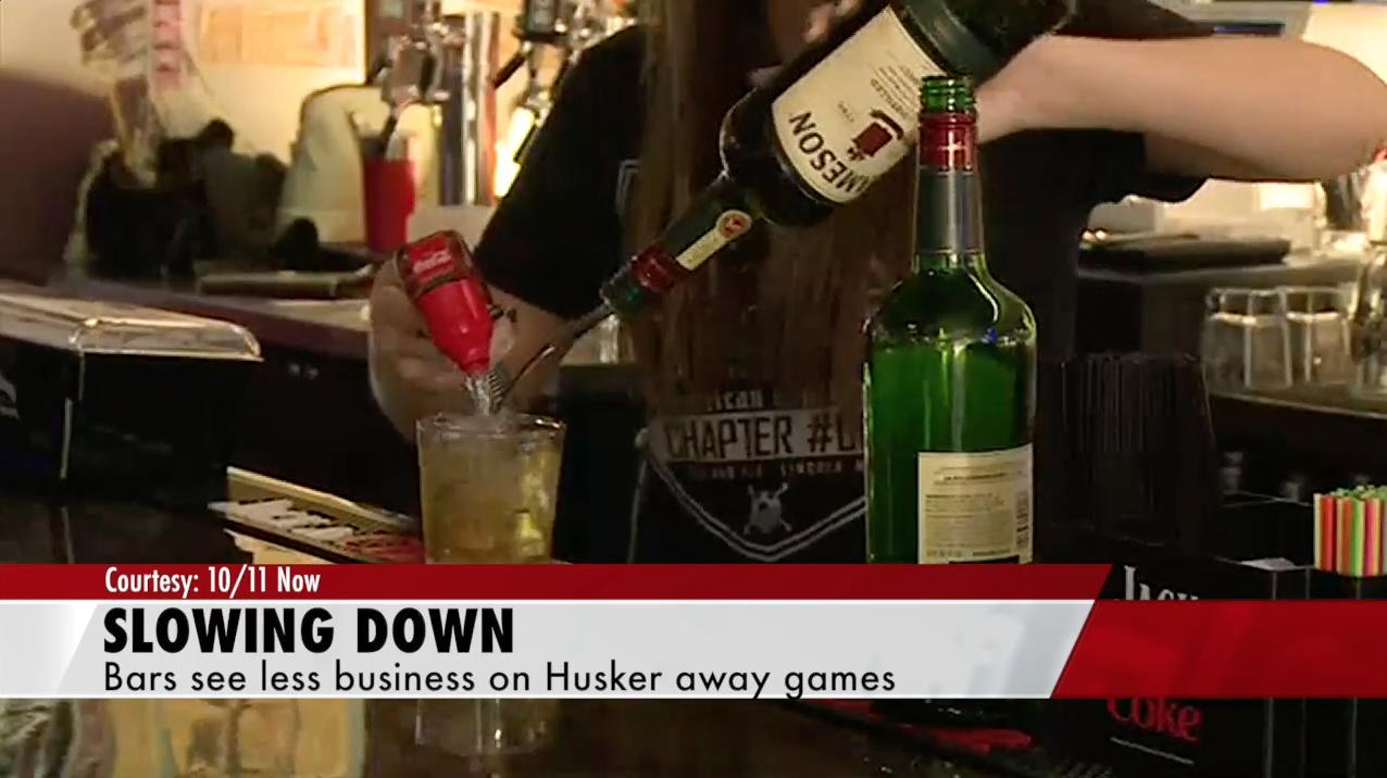 Bar business slows on Husker away game days