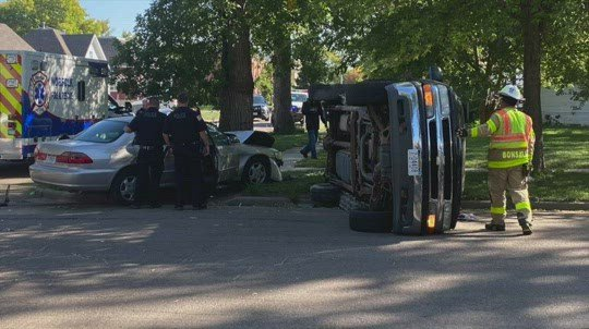 Two-vehicle accident in Norfolk injures at least one person