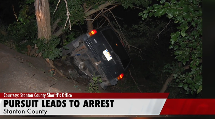 Stanton County Sheriff pursuit ends in crash and arrest