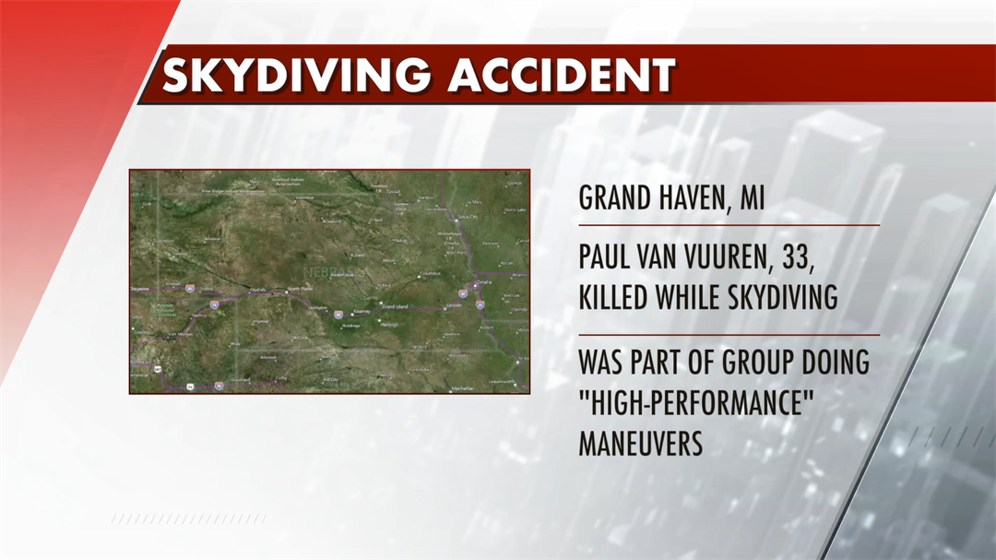 Skydiver who died in Michigan made low turn - CENTRAL - NEWS