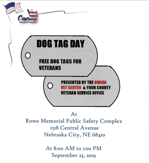 Veterans can get replacement dog tags this month in Nebraska