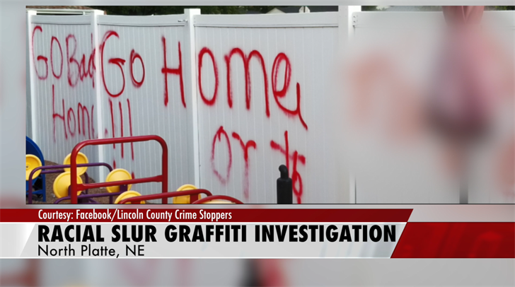 North Platte Police look for suspect who painted racial slur