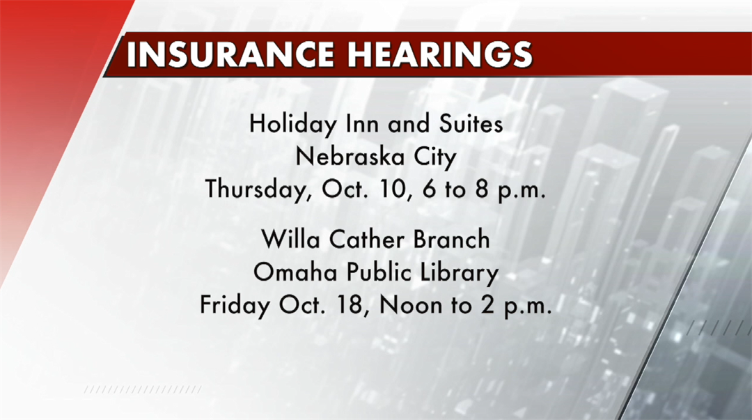 Insurance listening sessions being held across Nebraska