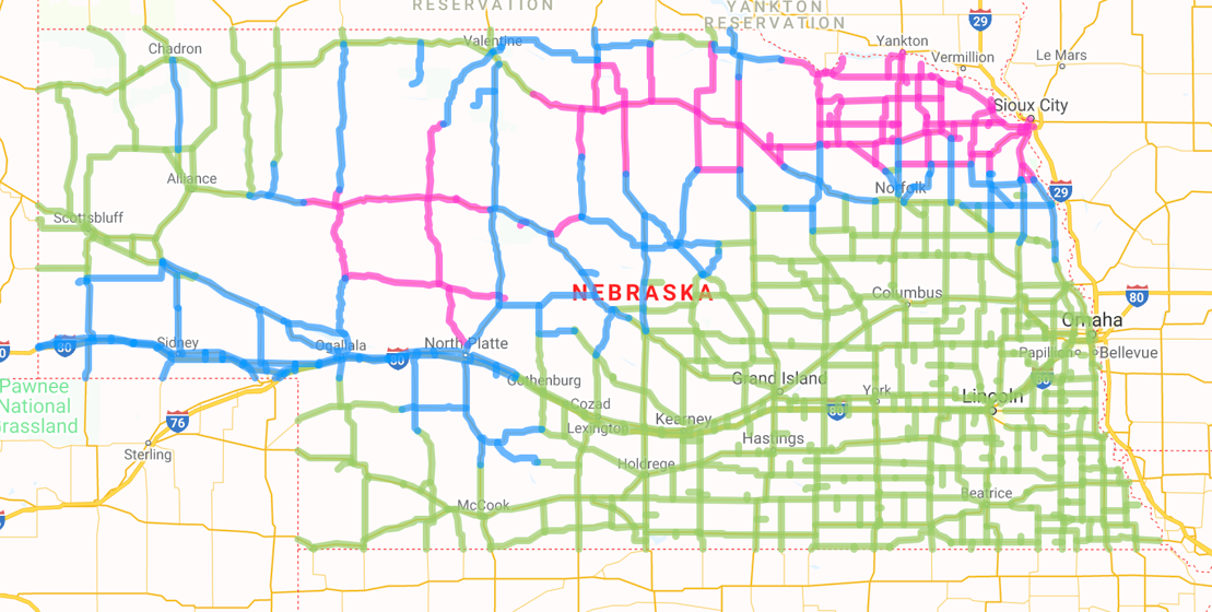 511 nebraska road conditions map Winter Weather Creates Slick Conditions Wednesday Morning River 511 nebraska road conditions map