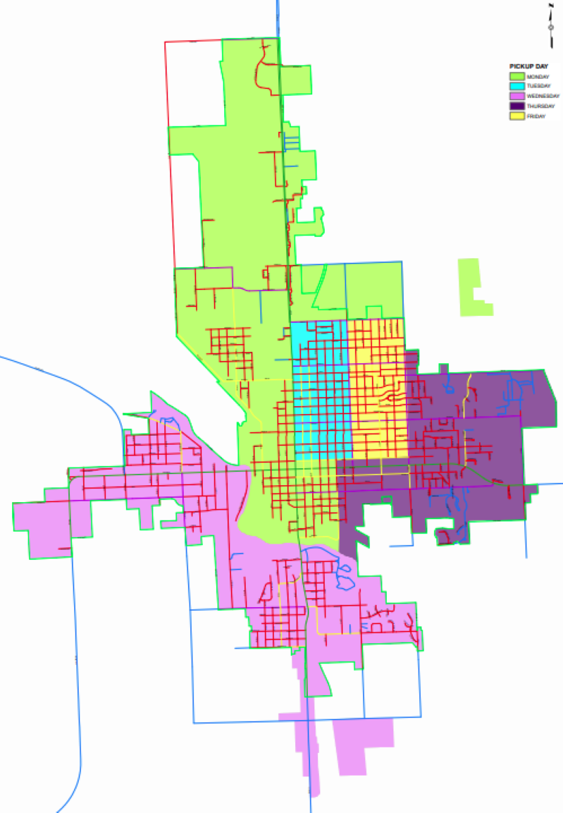 Daily Beatrice Garbage Pick-up areas, starting April 5th