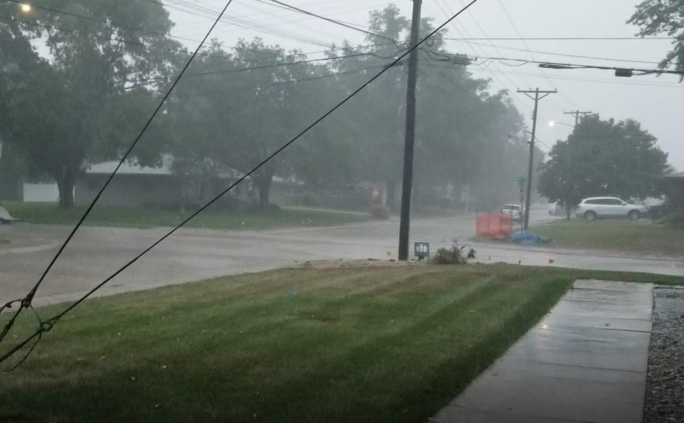 Wind driven rain early Friday night