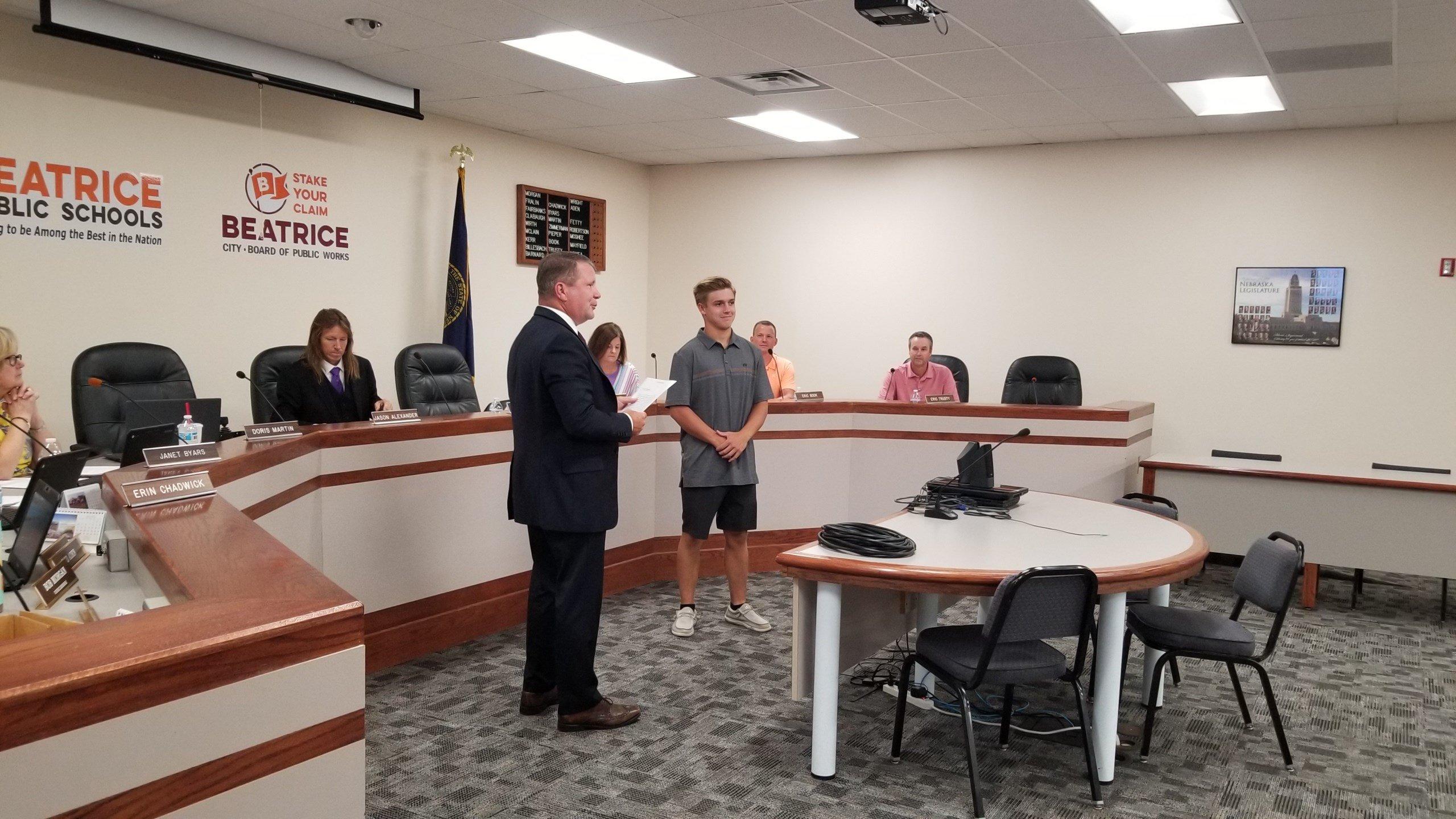 Connor Hamilton sworn in as new student board member